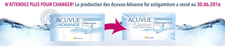 cf9745686bf1a4 Lentilles de Contact - Acuvue Advance for Astigmatism - 6 Lentilles  bi-mensuelles - commander en ligne chez lensvision.ch