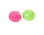 Kontaktlinsenbehälter Softgrip Pink/Grün 9281