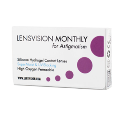 LENSVISION MONTHLY for Astigmatism <span>6 Monatslinsen</span>