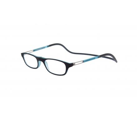 Click Slastik Garbi Magnet Lesebrille - Black/light Blue 09GS
