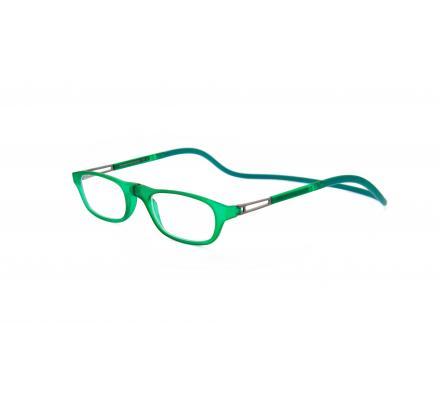 Click Slastik Garbi Magnet Lesebrille - Green 10GS