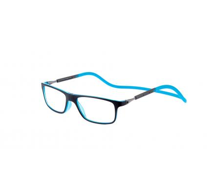 Click Slastik Llevant Magnet Lesebrille - Black/light Blue 04LS