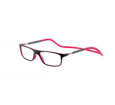Click Slastik Llevant Magnet Lesebrille - Black/Red 06LS