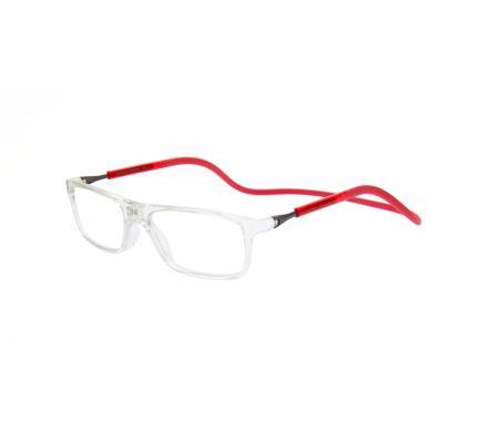 Click Slastik Llevant Magnet Lesebrille - Cristal/Red 08LS