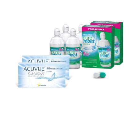 Sparset: Acuvue Oasys - 6 und OptiFree PureMoist ALCON