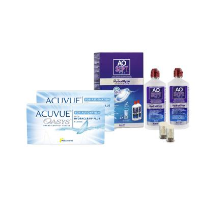 Sparset: Acuvue Oasys for Astigmatism - 6 und AO Sept Plus HydraGlyde