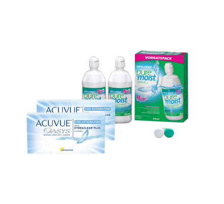 Sparset: Acuvue Oasys for Astigmatism - 6 und OptiFree PureMoist ALCON