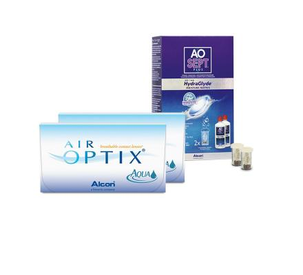 Sparset: Air Optix AQUA - 3 und AO Sept Plus HydraGlyde
