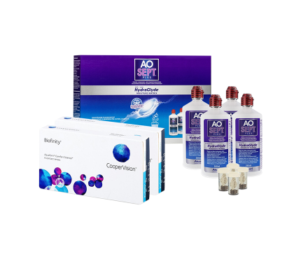 Sparset: Biofinity Toric - 6 und AO Sept Plus HydraGlyde