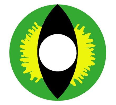 Crazy Lenses GREEN-DEVIL Kontaktlinsen - 2 Linsen