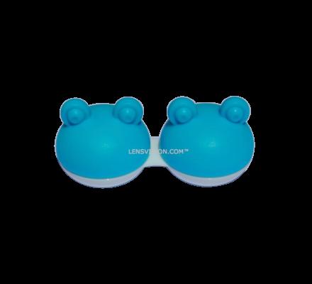 Kontaktlinsenbehälter Frosch Blau - 1x