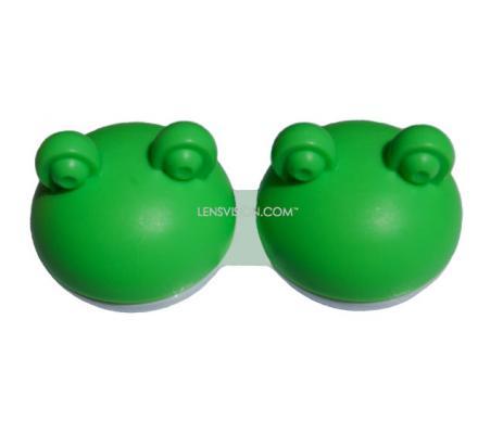 Kontaktlinsenbehälter QCase Frosch Grün 1x