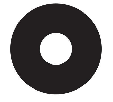 Crazy Lenses schwarze Kontaktlinsen - 2 Linsen