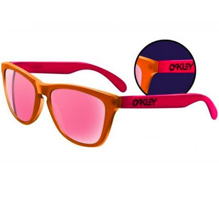 Oakley Frogskins Collectors Editions 24-284 Blacklight Orange/Pink/Pink Iridium Sonnenbrille