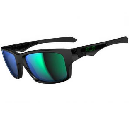 Oakley Jupiter Squared OO9135-05 Polished Black/Jade Iridium occhiali da sole