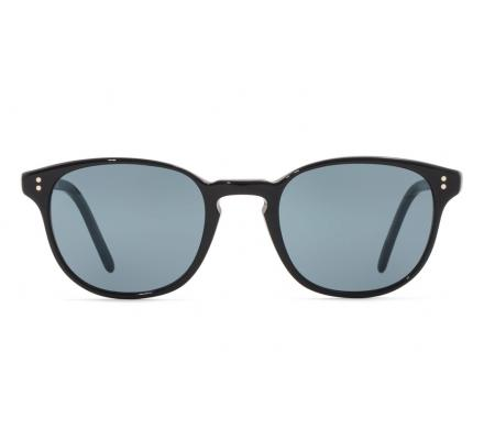 Oliver Peoples Fairmont SUN 5219S - Black with Indigo Photochromic Glass 49-21