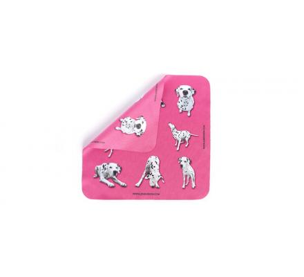 microfiber cloth Pink with Dalmatiner - 1 x 3