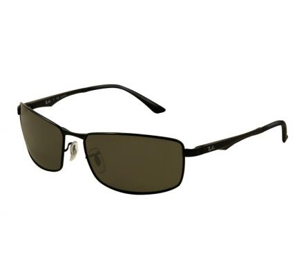 Ray-Ban RB3498 - 002-9A Pol. Black/Green 61-17