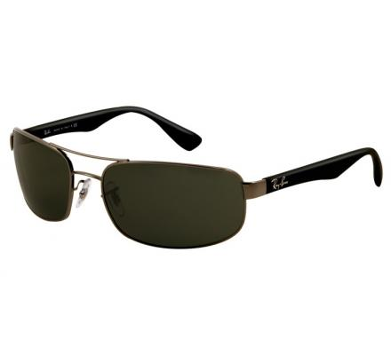 Ray-Ban RB3445 - 004 Gunmetal Green 61-17