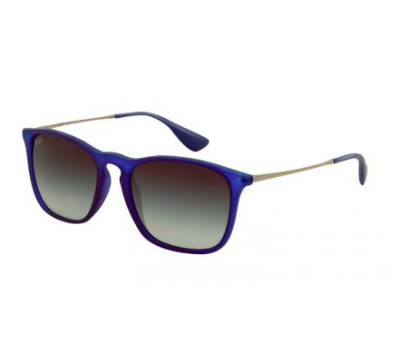 Ray-Ban Chris RB4187 - 899-8G Rubber Transp. Blue 54-18