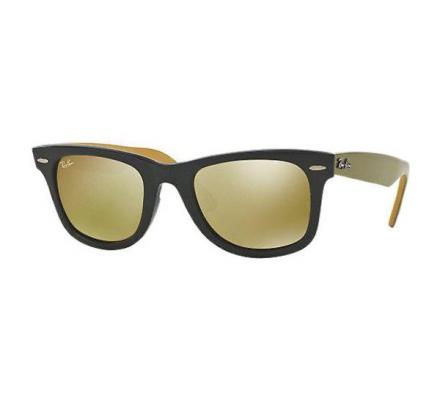 Ray-Ban ORIGINAL WAYFARER 50-22 RB2140 117393 Brown Mirror Gold