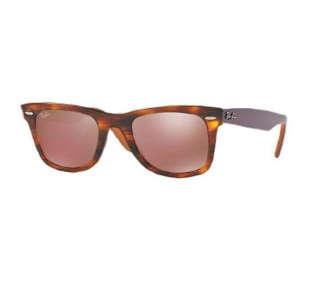 Ray-Ban ORIGINAL WAYFARER 54-22 RB2140 11772K Brown Mirror Dark Red