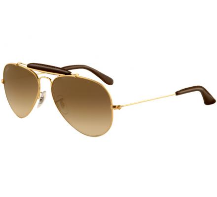 Ray-Ban Outdoorsman 58-14 RB3422Q 001/51 Arista/Insert Brown Leather