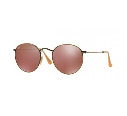 Ray-Ban ROUND METAL 50-21 RB3447 167/2K Red Mirror