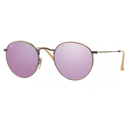 Ray-Ban ROUND METAL 50-21 RB3447 167/4K Lilac Mirror