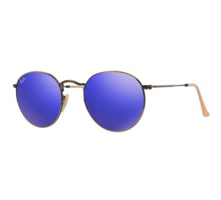 Ray-Ban ROUND METAL 50-21 RB3447 167/68 Blue Light Mirror