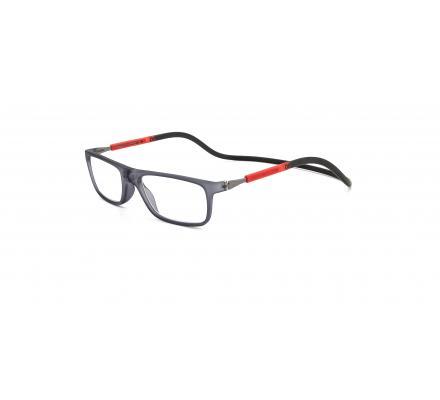 Click Slastik Llevant Magnet Lesebrille - Black/Red/Black 09LS