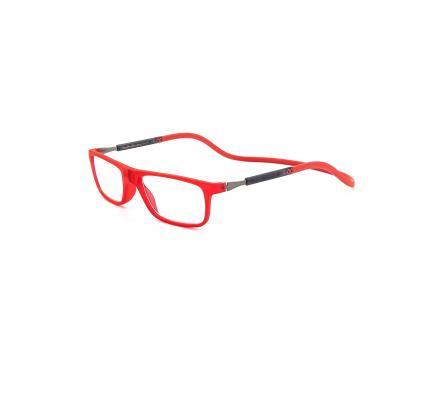 Click Slastik Llevant Magnet Lesebrille - Red 13LS