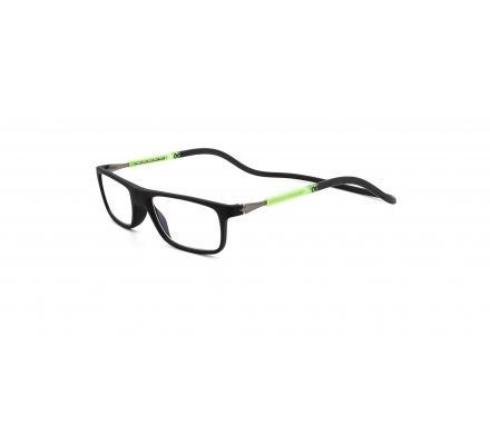 Click Slastik Llevant Magnet Lesebrille - Black/Green/Black 14LS