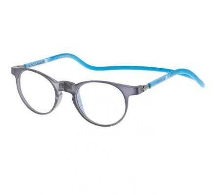 Click Slastik Soho Magnet Lesebrille - Grey Blue 009