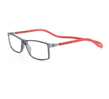 Click Slastik Trevi Magnet Lesebrille - Grey-Red 004