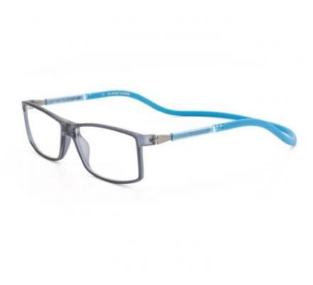 Click Slastik Trevi Magnet Lesebrille - Grey-Blue 005