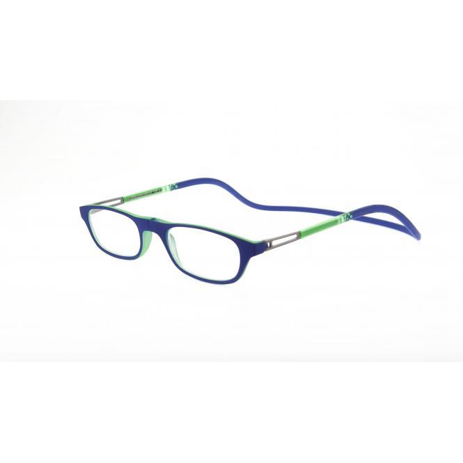 Click Slastik Garbi Magnet Lesebrille - Blue/Green/Blue 12GS