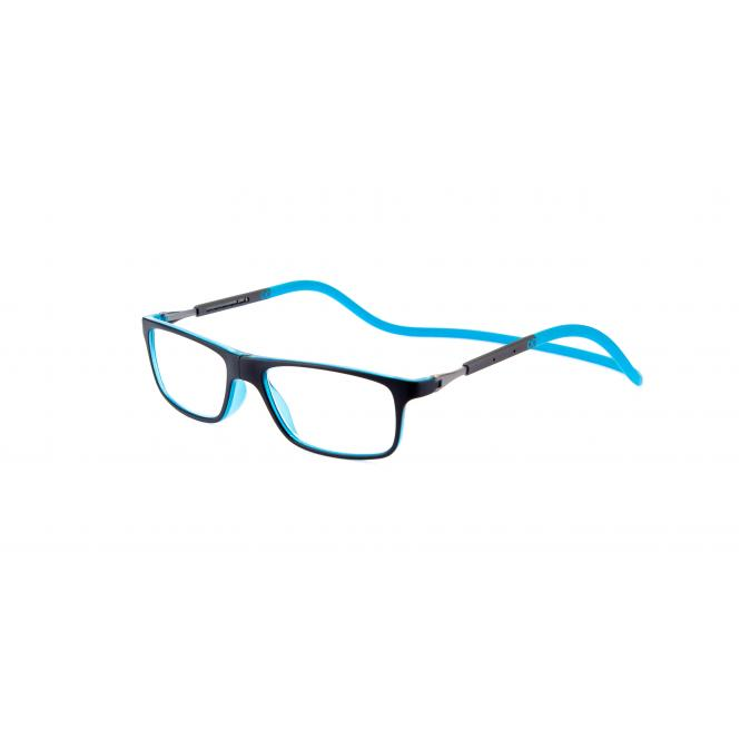 Click Slastik Llevant Magnet Lesebrille - Black/light Blue 04LS