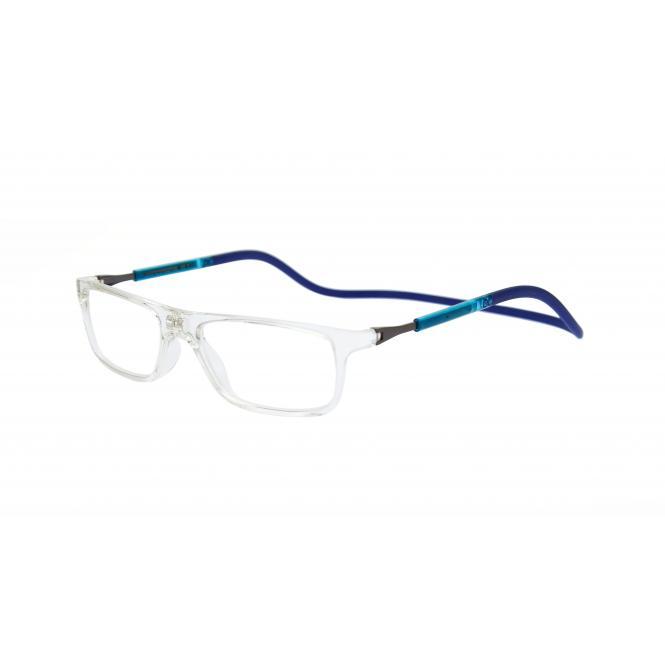 Click Slastik Llevant Magnet Lesebrille - Cristal/Blue 07LS