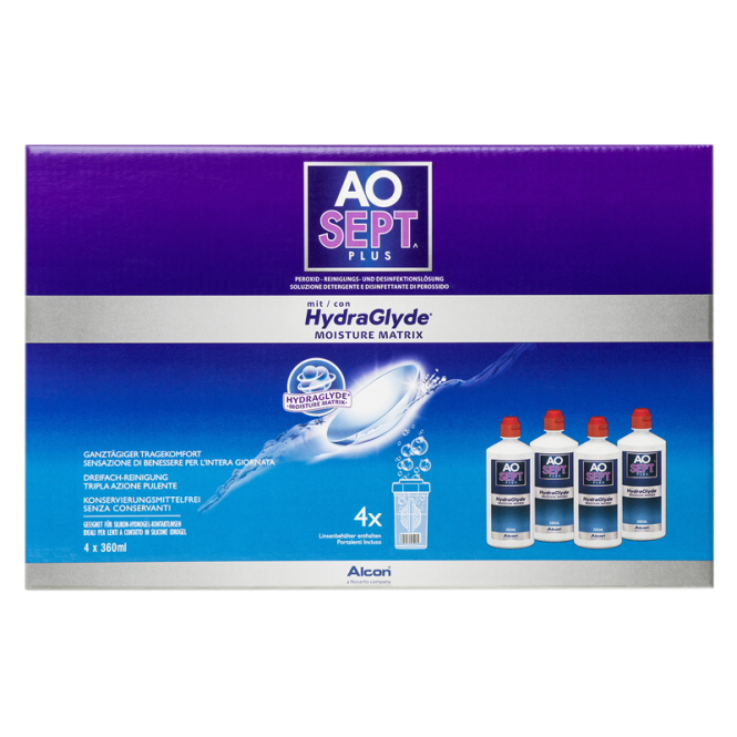 AO Sept Plus HydraGlyde - 4 x 360ml