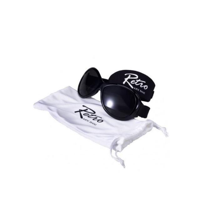 BabyBanz Retro Black (0-2 Jahre) Babysonnenbrillen von Baby Banz