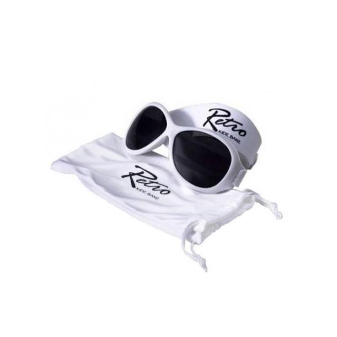 BabyBanz Retro White (0-2 Jahre) Babysonnenbrillen von Baby Banz