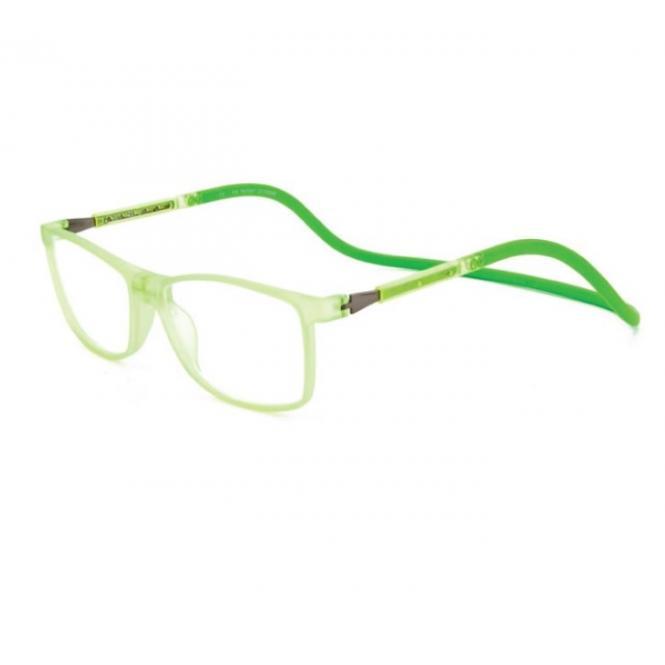 Click Slastik Camden Magnet Lesebrille - Acld Green 005