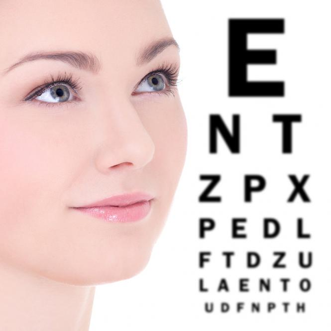 Kontaktlinsen Augenkontrolle
