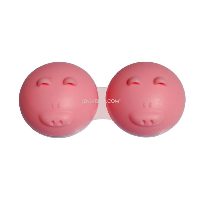 Kontaktlinsenbehälter QCase Pink Pig 1x