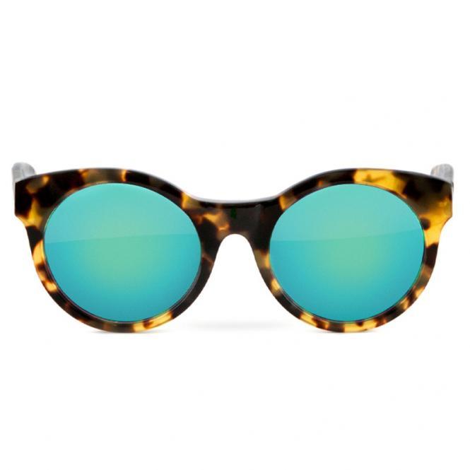 LENSVISION SUNNY custom 590 - Havanna 756 / Blue Mirror Green