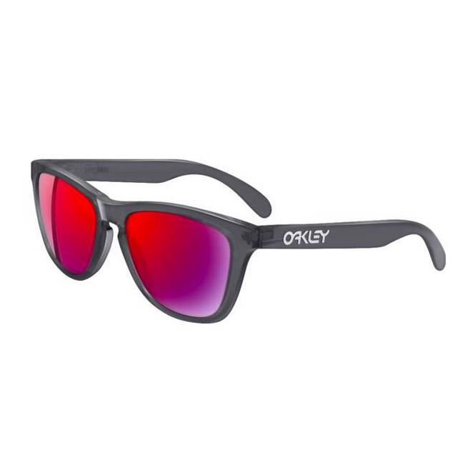 Oakley Frogskins 24-304 Crystal Black/Positive Red Iridium Sonnenbrille