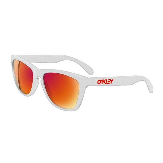Oakley Frogskins 24-307 Polished White/Ruby Iridium Sonnenbrille