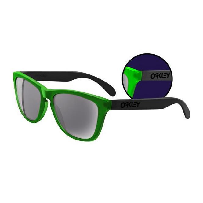 Oakley Frogskins Collectors Editions  24-286 Blacklight Green/Black/Grey Sonnenbrille