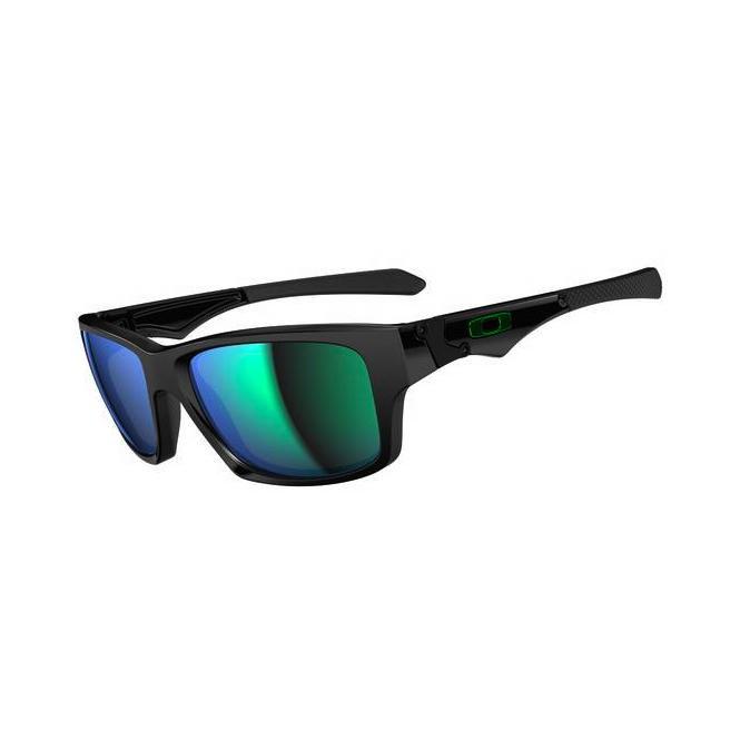 Oakley Jupiter Squared OO9135-05 Polished Black/Jade Iridium Sonnenbrille